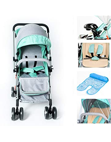 NOYMI Portable Fordable Baby Stroller - One Hand Operation Design for Opening & Folding Lightweight Convertible Baby Carriage Airplane Travel for Infant Toddler