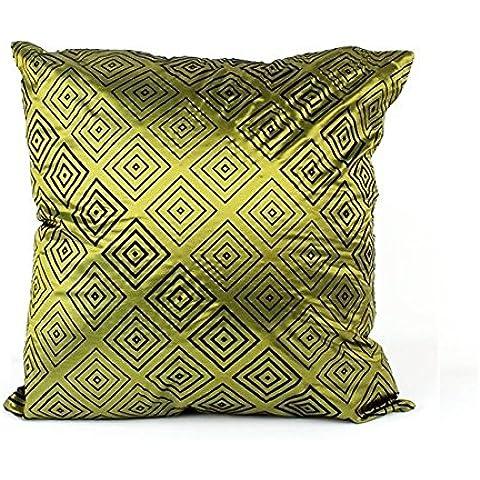 Federa retrò seta miscela/poliestere colore: verde, Deluxe fodera per cuscino - Cuscino (Deluxe Miscela)