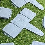 AiCheaX 20Pcs Gartenzaun Rand Cobbled Stein Effekt Kunststoff Rasenkante Pflanze Grenze Dekorationen