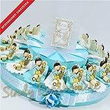 Torte Bomboniere Kommunion Schlüssel Stielglas für junge Boy Pignatelli Versand inklusive Torta da 35 fette