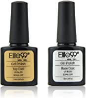 Elite99 Smalto Semipermente per Unghie in Gel UV LED Base e Top coat Semipermanente 2pzs Kit per Manicure Smalti Gel per Unghie Soak Off 7.3ml