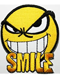 Smiley Happy Face patches Embroidered Iron on Patch MG05