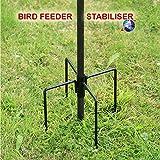 Wild Bird Feeding Station Stabiliser For Garden Outdoor Feeding Feeder Feet Ground Spikes Stand in Black Color