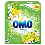 Omo Lessive Poudre Lilas Blanc Et Ylang Ylang 50 Doses