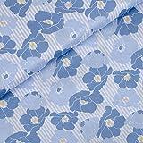 Toller Baumwoll Satin Denim Day von Milliblu´s mit blauen