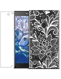 MadBee Funda para Sony Xperia L2 [con Protector Pantalla],Transparente Carcasa Silicona Ultra Fina Suave TPU Gel Bumper Case Protección con Dibujos Shell Cover para Sony Xperia L2 (Blanco 1)