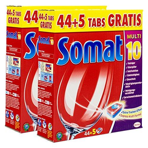 Somat Multi 10 Geschirrspültabs 44+5 Tabs (2x 44+5 Tabs = 98 Tabs)