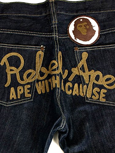 Rebel Ape Herren Jeanshose Dunkelblau