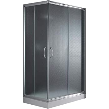 Cabine Paroi Douche 70x100 H185 Opaque 5mm mod. Alabama: Amazon.fr ...