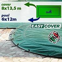 Telo di copertura invernale per piscina 6 x 12 mt - completo di borchie ed elastico