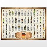50 Biere aus Deutschland Scratch Poster