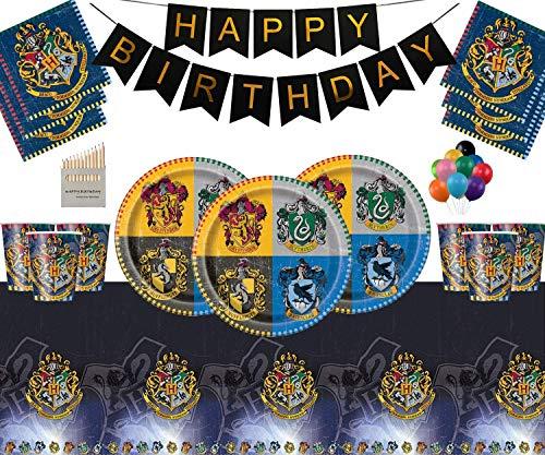 upplies Pappteller Tassen Servietten Tischdecke Alles Gute zum Geburtstag Bannerfreie Ballonpackung für 16 Gäste ()
