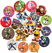 GTOTd Stickers for Smash Bros (20pcs,Large Size)Anime Merch Party Supplies Vinyl Sticker for Skateboard Guitar