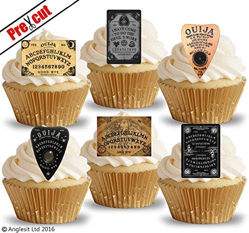 ja Board & Pointer essbarem Reispapier/Waffel Papier Cupcake Kuchen Topper Halloween Gothic Party Geburtstag Dekorationen ()