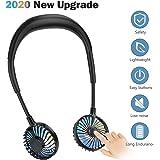 Neck Fan Portable Rechargeable for Kids Children, CENXINY Mini Neckband Fan USB Battery 2000mAh Hanging Neck Fan for Travelin