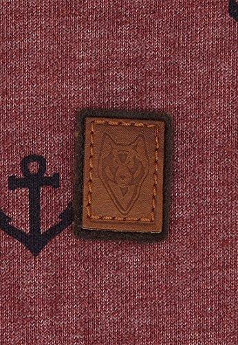 Naketano Male Sweatshirt Rise Of An Enemy III Heritage Bordeaux Melange