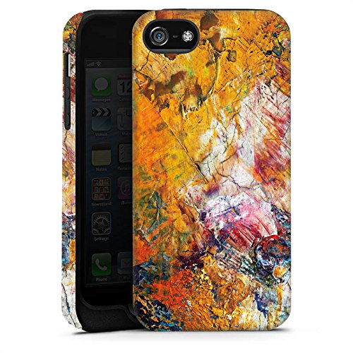 Apple iPhone 6 Housse Étui Protection Coque Peinture à l'huile Peinture Motif Cas Tough terne
