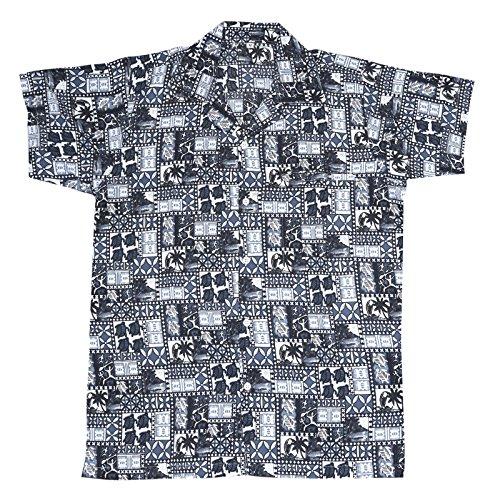 SAITARK Herren Freizeit-Hemd mehrfarbig mehrfarbig BLACK 4TURTLE