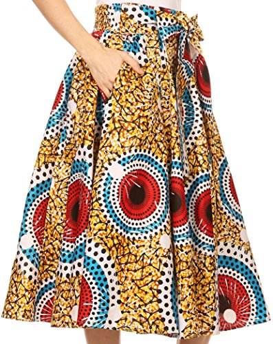 Sakkas Celine African Dutch Ankara Wax Druck Full Circle Rock 1114-WhiteMulti