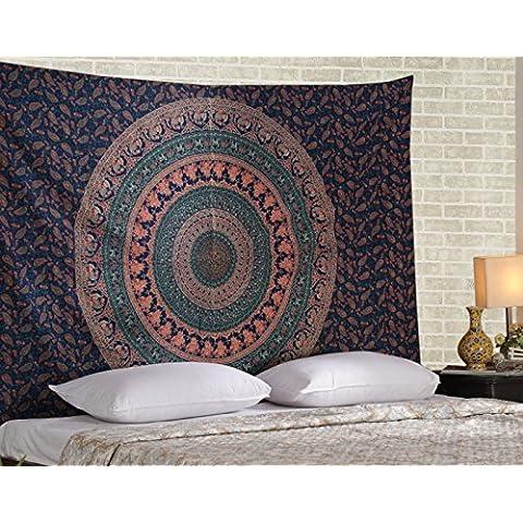 Tapiz hippie, hippy Mandala de Bohemia Tapices, India decoración del dormitorio, Psychedelic Tapiz Tapiz Tapiz decorativo étnico, 85 x 55 pulgadas por