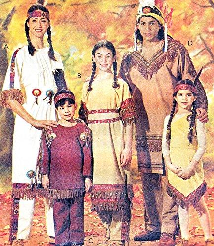 McCall 's Kostüm Muster 7765American Indians Kinder Größe (Kostüm Muster Mccalls)