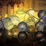 Wattebausch LED Lichterkette,Chickwin Multicolor 2.2M batteriebetriebene Warm Led Cotton Ball