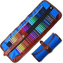Lápices De Colores Set, 36 Kit De Dibujo De Lápiz De Color Con Roll Up Canvas Caso Para Adultos y Niños