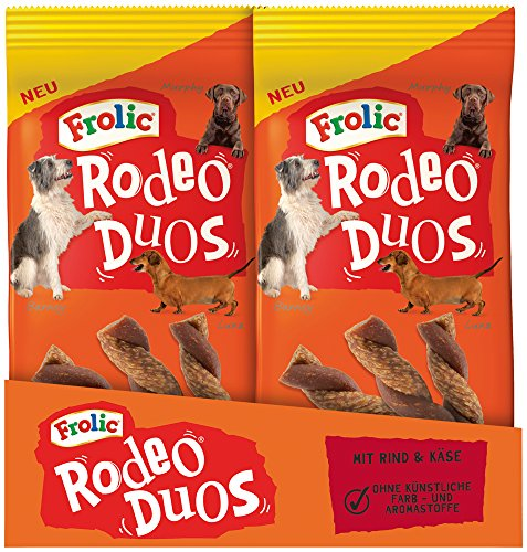frolic rodeo Frolic Rodeo Duos Hundesnack mit Rind und Käse, 10er Pack (10 x 7 Stück)