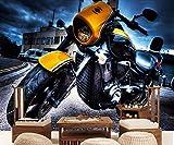 Wxlsl 3D Papier peint Fond D'Écran 3D Fond D'Écran Personnalisé Mur De Fond Tv Moderne Mur De Moto Vintage Fond D'Écran Tv Murale-400cmx280cm