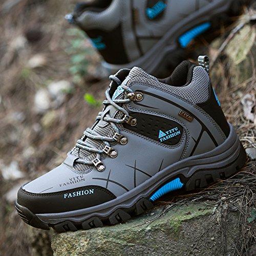 Gomnear Scarpe da Trekking Uomo Arrampicata Impermeabile Hiking Boots Grigio