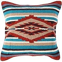 El Paso diseños manta fundas de almohada de 18 x 18- Tejido a mano lana