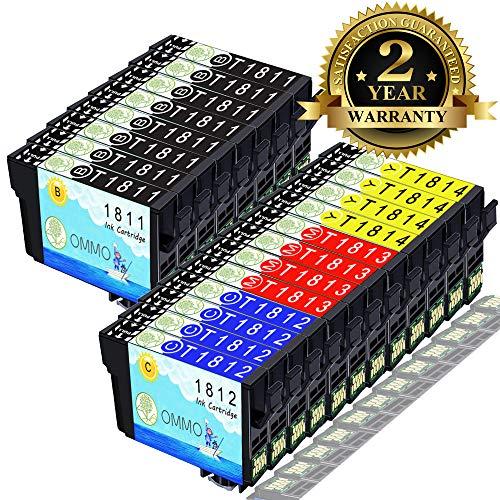 20 Druckerpatrone 18xl T1811 Kompatibel mit Epson Expression Home XP-322 XP-305 XP-422 XP-315 XP-425 XP-405 XP-215 XP-225 XP-415 XP-312 XP-412 XP-212 XP-325 XP-302 XP-402 XP-202 Patrone -Colorfish