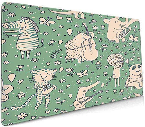 Extended Laptop Mouse pad Gaming Mouse pad,with Non-Slip Rubber Base for Computer, Laptop, Home, Office & Travel All Over Pattern...