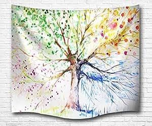A Monamour Bunte Zeichnung Baum Vier Jahreszeiten Bild