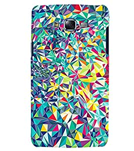 Citydreamz Colorful Broken Mirror Pieces Hard Polycarbonate Designer Back Case Cover For Samsung Galaxy On5 Pro