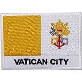 Ciudad del Vaticano Bandera bordado de hierro/parche para coser de Papa Roma Italia Iglesia Badge