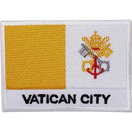 Vatikanstadt Flagge gesticktes Eisen/Nähen auf Patch Papst Rom Italien Kirche Badge