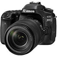 Canon EOS 80D 24.2MP Digital SLR Camera (Black) + EF-S 18-135mm f/3.5-5.6 Image Stabilization USM Lens Kit + 16GB Memory…