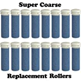 The Pedi Store SUPER Coarse Micro Mineral Replacement Rollers Compatible with Emjoi Micro-Pedi Callous Remover for Rough and Tough Calluses (16 pack)