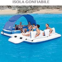 Invita i tuoi amici a rilassarsi con stile su questa isola gonfiabile galleggiante Tropical Breeze 43105 di Bestway! Può essere gonfiata e sgonfiata velocemente. Questa poltrona galleggiante è dotata di schienali con cuscini molto larghi e 6 ...