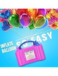 Zecti électrique Ballon Gonfleur pour Décoration des Fêtes, Mariage, Soirée, Anniversaire, etc 600W Rose
