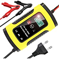 YDBAO Chargeur de Batterie Portable pour Voiture 6A 12V Mainteneur de Batterie Intelligent Voiture avec Écran LCD…