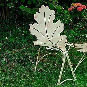 Pötschke ambiente feuilles-chaise de salle de bains avec dossier