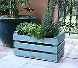 Alte Obstkiste. Holzkiste 50x30x27 cm. Farbig lackiert: mintgrün. Vintagebox collectionmintgrün