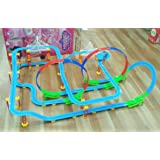 Kiditos Electronic Train Tracks Racer Educational Building Blocks with Sound & Light - 162 Pcs