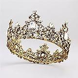 Weddwith Kopfschmuck Haarstyling Zubehör runden Krone europäischen und amerikanischen Retro Barock Krone Europäische Hof Stil Braut Kopfschmuck