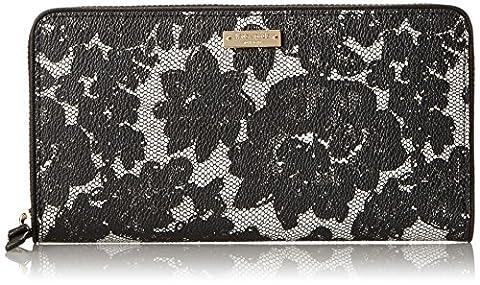 Kate spade purse KATE SPADE PWRU3801 098 CEDAR STREET LACE LACEY long wallet BLACK MULTI