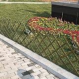 JIANFEI-weilan Steccato Giardino Legno Divisorio da Giardino Guardrail Vegetale Recinzione di bambù Estensibile, 4 Taglie (Size : 120x180cm)