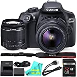 Canon Eos T6/1300D With EF-S 18-55mm 18.7MP CMOS 5184 X 3456 Pixels (Black) + 32GB SD Card + Prime Seller Camera Cleaning Cloth