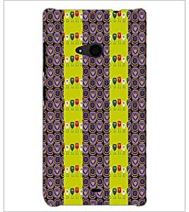 PrintDhaba Owl Pattern D-2945 Back Case Cover for MICROSOFT LUMIA 535 (Multi-Coloured)